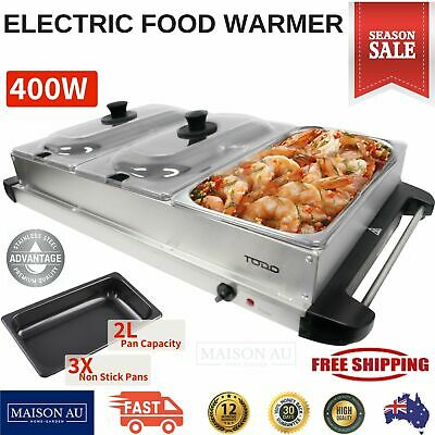 New Benchtop Buffet Food Warmer Electric Display Server Bain Marie 3 Tray Party