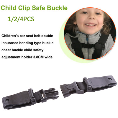 4PCS Car Baby Safety Seat Strap Belt Harness Chest Clip Child Safe Lock Buckle