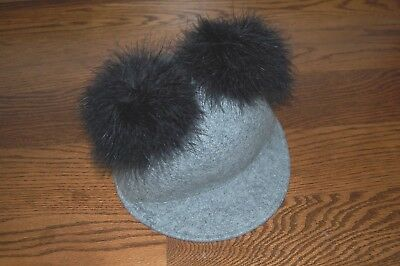 0b9c1438c KATE SPADE NEW York Hat Marabou Pom Pom Felt Cap NEW $98 - $68.00 ...
