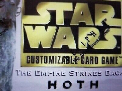Star Wars CCG Hoth BB Limited 2ND TIER SINGLES Select Choose NrMint-MINT SWCCG
