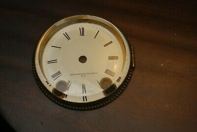 Seth Thomas & Sons dial bezel for mantle clock, beveled glass, New York