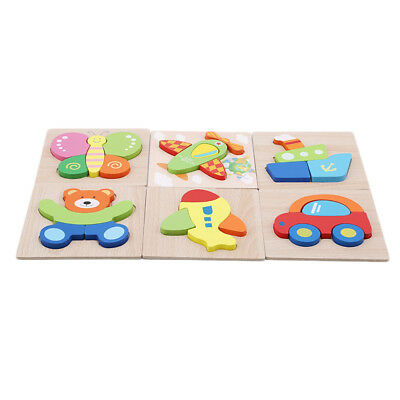 3D Kids Early Learning Toy Creative Animal Fruit Wooden Puzzle Jigsaw Baby Hot