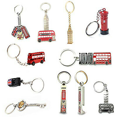Set of 10 London England Keyrings Souvenir Keychains Iron for Bags Purses Gift