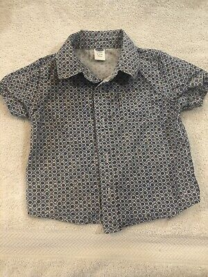 Old Navy Baby Boy Toddler Button-up Shirt 6-12 Months