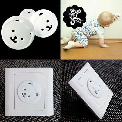 10 pcs Safety Child Baby Protection Electric Socket Plastic Cover Cap EU Plug