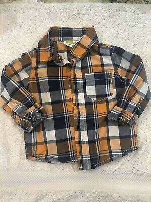 Crazy 8 Baby Boy Toddler Long Sleeve Dress Shirt 6-12 Months