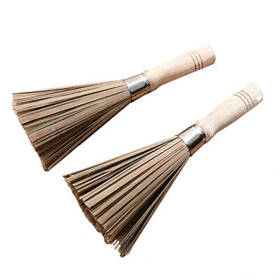 Home Kitchen Bamboo Natural Pot Brush Household Wok Cleaning Washing Tools