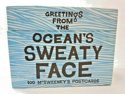 "McSweeney's postcards ""Greetings from the ocean's sweaty face"" Publishers quirk"