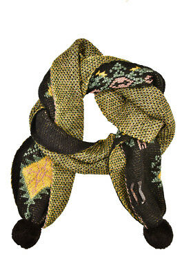 Scotch & Soda Womens Knitted 140940 Scarf Jacquard Pom Pom Combo B Multi Size OS