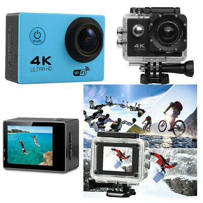 Waterproof Ultra 4K Full HD Sports Camera Wi-Fi Action Camcorder as Go Pro Blue