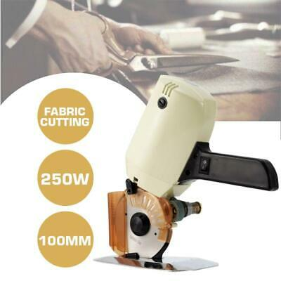 "4"" Electric Cloth Cutter Fabric Leather Rotary Blade Cutting Scissors Machine"