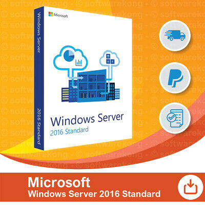Microsoft Windows Server 2016 Standard 16-Core 64bit Vollversion, Retail.