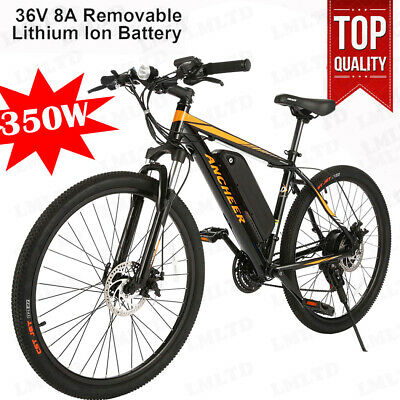 """Electric bike EBike 350W 36V 8Ah Lithium battery 26"""" Fat tyres mountain bicycle"""