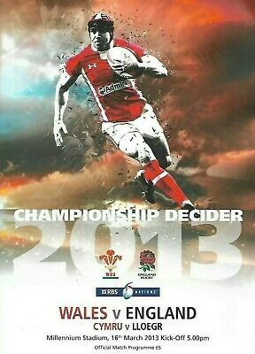 WALES v ENGLAND 16th March 2013 - RBS 6 NATIONS - Official Programme
