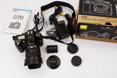 NIKON D70 kit with AF-S DX Zoom Nikkor Asferico 18-70mm G IF ED lens, BOXED