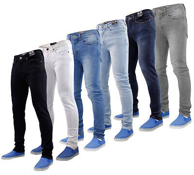 Mens Jeans Skinny Stretch Slim Fit Denim Trouser Seven Series Straight Leg Pants