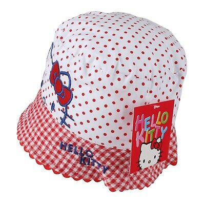 Official Hello Kitty - Polka Dots - Girls Summer Sun Hat - Red