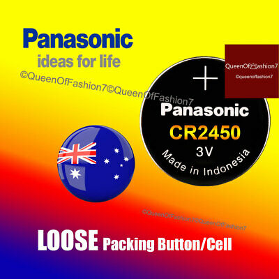 100 x Panasonic LOOSE Packing CR2450 Battery Lithium Cell Button Batteries