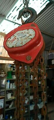 Block and Tackle 1 Tonne Chain Hoist Oz Blok Australian Made H.E.S.