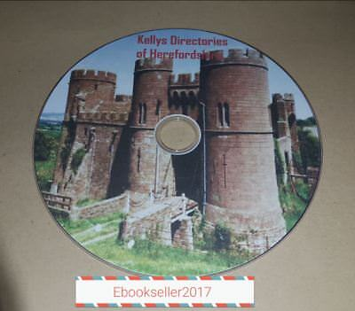 Kellys directories of Herefordshire genealogy in pdf ebooks, history on a disc