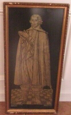 Original ROBERT CHAMBERS Swaffham Prior Cambridgeshire Brass Rubbing Framed