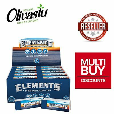 Elements Classic Tip Roach Filter Booklet Book for Smoking Rolling Paper Genuine