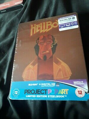 Hellboy Blu ray Steelbook Project Pop Art UK Release New and Sealed