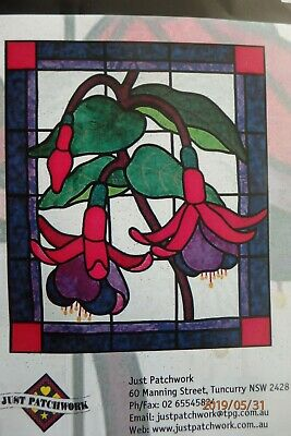 """""""Fuchsia"""" Stained Glass Quilt Kit.Opened but not started."""
