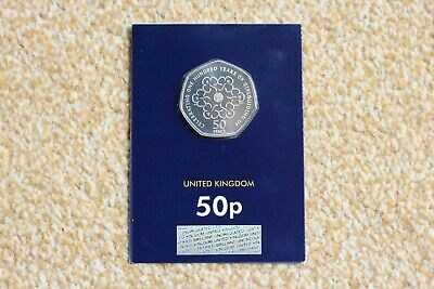 UK 2019 50p BUNC GIRL GUIDES Genuine Brilliant Uncirculated Fifty Pence Coin BU