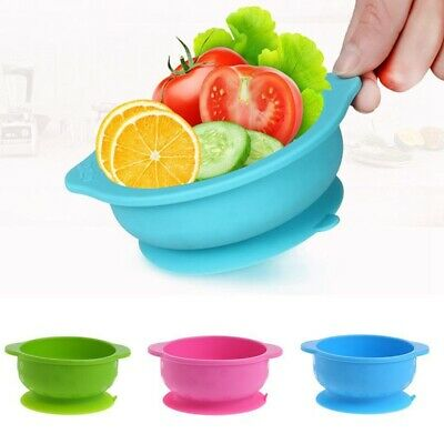Baby Silicone Bowl Dish Suction Table Food Tray Mat Placemat Plate Feed Hot UK