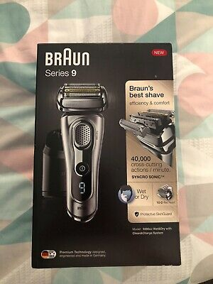 Braun Series 9 9290cc Men's Electric Foil Shaver Wet and Dry - Silver