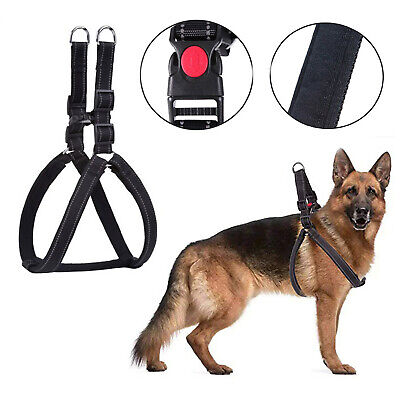 DOG LARGE PADDED HARNESS Heavy Duty No Pull Adjustable Pet Walk Out Soft Vest