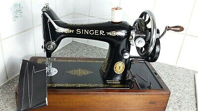 Beautiful Vintage Hand Crank Singer Sewing Machine 99K,serviced by expert