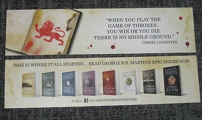 GAME OF THRONES PROMOTIONAL BOOKMARK Cersei Lannister quote, GEORGE R.R MARTIN