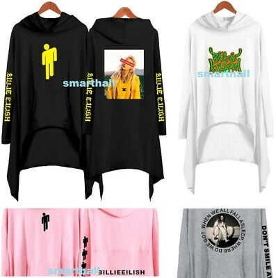 Billie Eilish Hoodie 3D Print Hooded Sweatshirt Cotton Pullover Cartoon Sweater