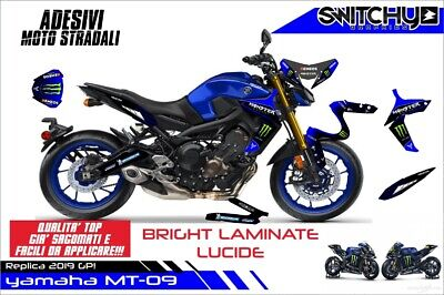 "Adesivi Stickers kit replica TEAM 2019 ""LUCIDO"" YAMAHA MT-09 MT09 2017-2019"