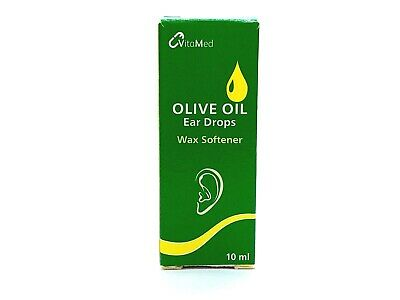 Olive Oil Ear Drops (VitaMed) Softens Removes Ear Wax - 10ml (BUY 2 GET 1 FREE)