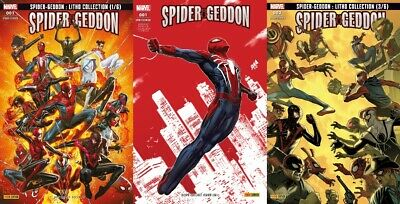 Lot Marvel Fresh Start : Spider-Geddon 1, 2 + 1 Variant - Panini Comics - NEUF