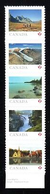 2019 Canada SC# From Far and Wide - Strip of Five Stamps - from Booklet M-NH