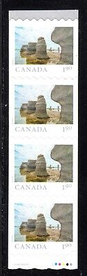 2019 Canada SC# From Far and Wide - end strip of 4 coil wavy die cut M-NH C14