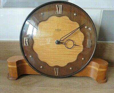 Vintage Smiths  Art Deco 8 Day 7 Jewels Mantle / Side Board Clock Working