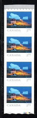 2019 Canada SC# From Far and Wide - end strip of 4 coil wavy die cut M-NH C19