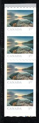 2019 Canada SC# From Far and Wide - end strip of 4 coil wavy die cut M-NH C9