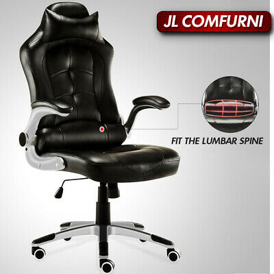 Executive Home Office Chair Swivel Racing Gaming PU Leather Computer Desk