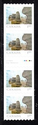 2019 Canada SC# From Far and Wide - gutter strip of 4 coil stamps - M-NH C12