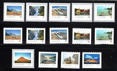 2019 Canada SC# From Far and Wide - 14 single stamps from coils - M-NH