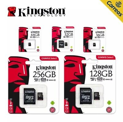 Tarjeta memoria Micro SD SDHC Kingston 32GB 64GB 128GB Class 10 microsd