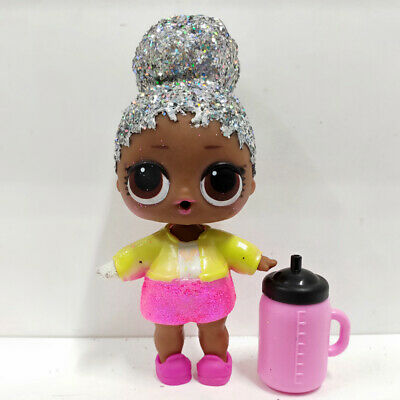 lol doll Big Sister Series Glitter Hair Yellow Pink Dress Kids Birthday Gift