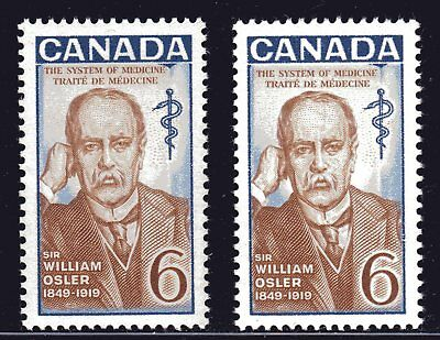 1969 Canada SC# 495 - 495i Sir William Osler Physician 1849-1919 Lot# 400 M-NH