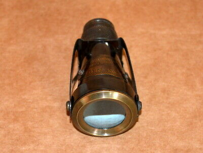 "Antique vintage 4"" brass telescope monocular pocket nautical pirate spyglass"